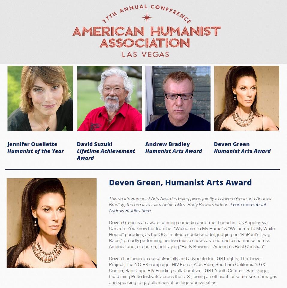 American humanist arts award vegas 2018