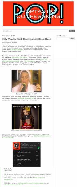 pOPTASTIC review Davarama Higdon Holly Would