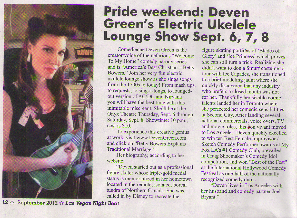 Deven Green Onyx Theatre Las Vegas