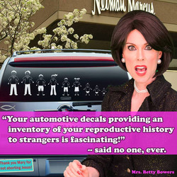 CAR decals betty bowers