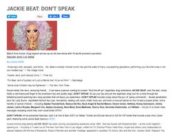 Deven in Jackie Beat's DON'T SPEAK