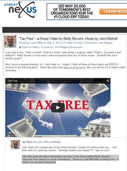 atheist nexus tax free
