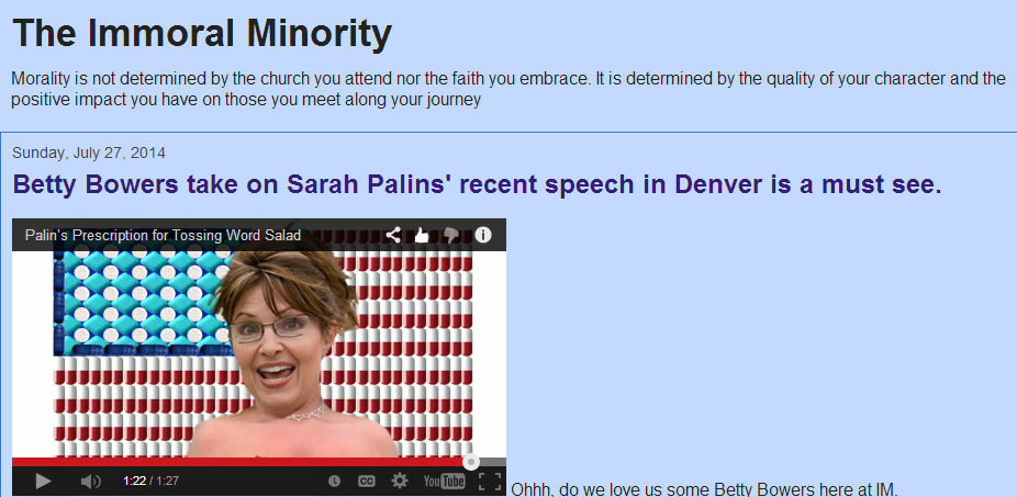 sarah palin drunk betty bowers