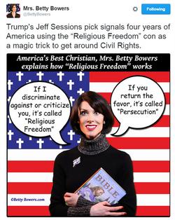 religious freedom  racist trump