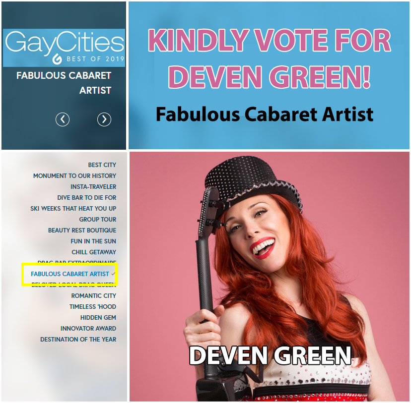 gaycities deven green cabaret artist