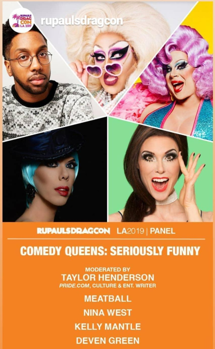 dragcon 2019 seriously funny comedy pane