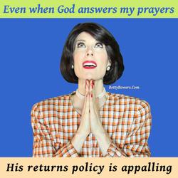 prayer return policy