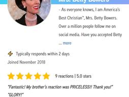 Betty Bowers Cameo