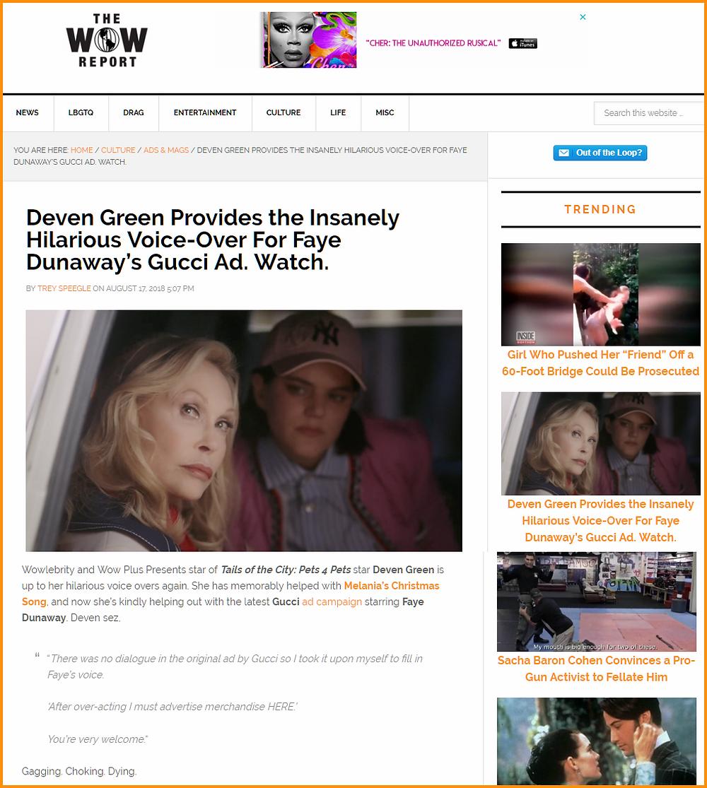 Deven Green wow report trending