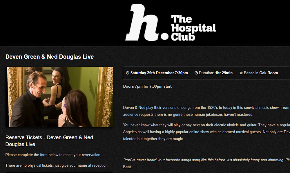 the hospital club deven green ned douglas london