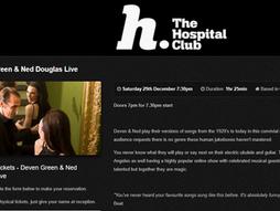 Dec. 29th - Hospital Club - London