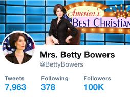 Betty Bowers 100k followers Twitter