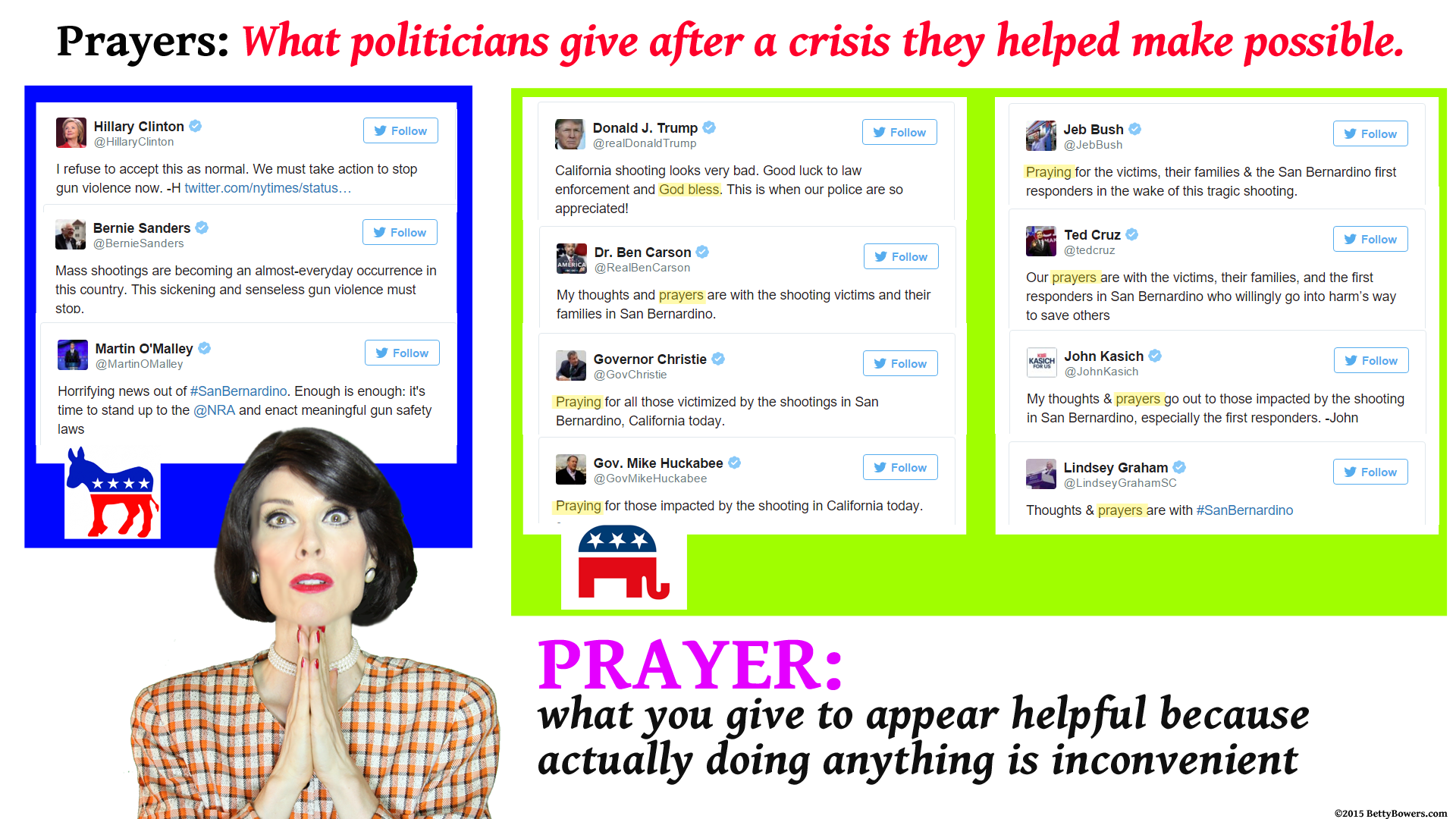 polititans prayer tweets