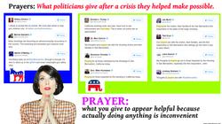 polititans prayer tweets