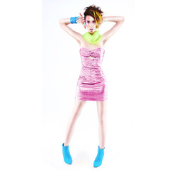 80s full body pink 1a square