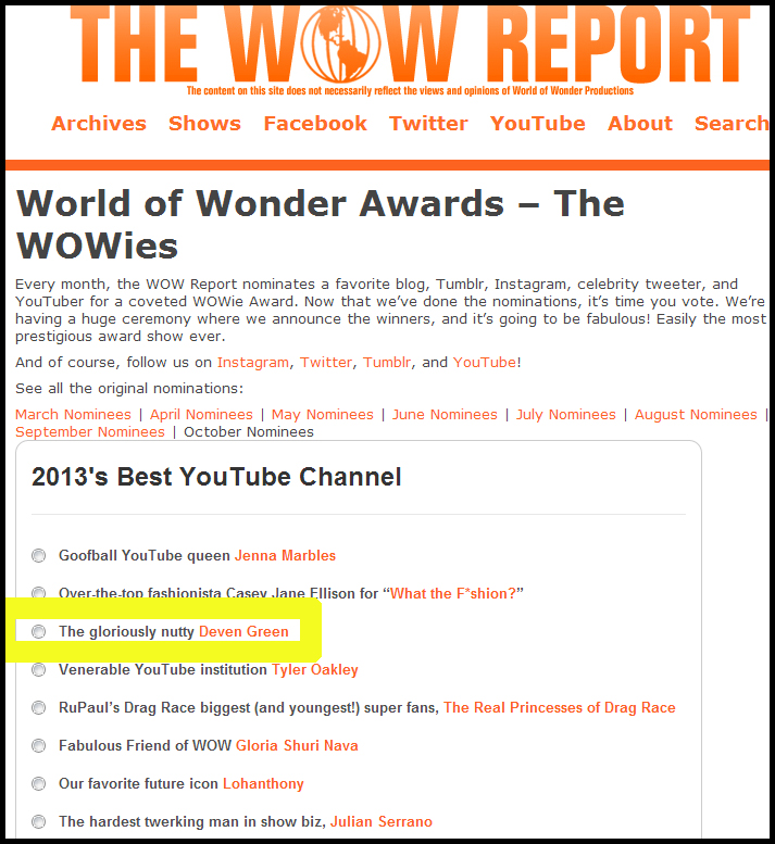wowie award nominee world of wonder
