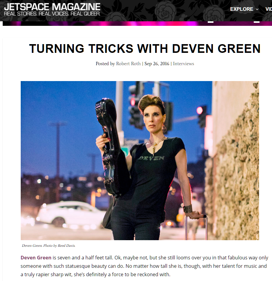 Jetspace Magazine with Deven Green
