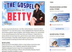 Betty Bowers on Patreon