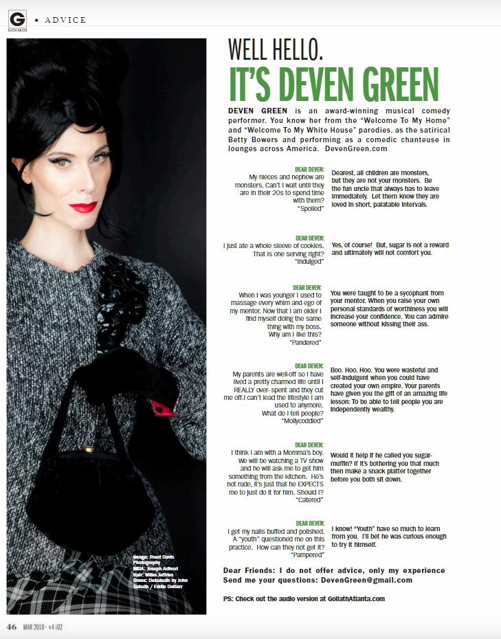 Advice | Los Angeles | Deven Green