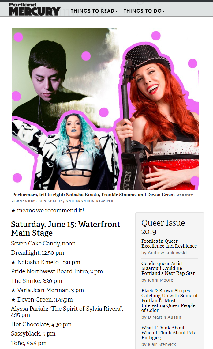 PORTLAND MERCURY JUNE 16 2019 PRIDE
