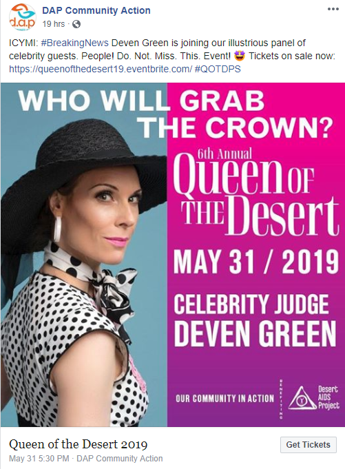 desert aids project deven green celebrity judge