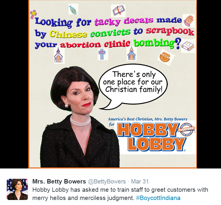 hobby lobby indiana betty bowers