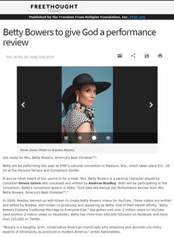 FFrF Wisconsin Betty Bowers God Performa