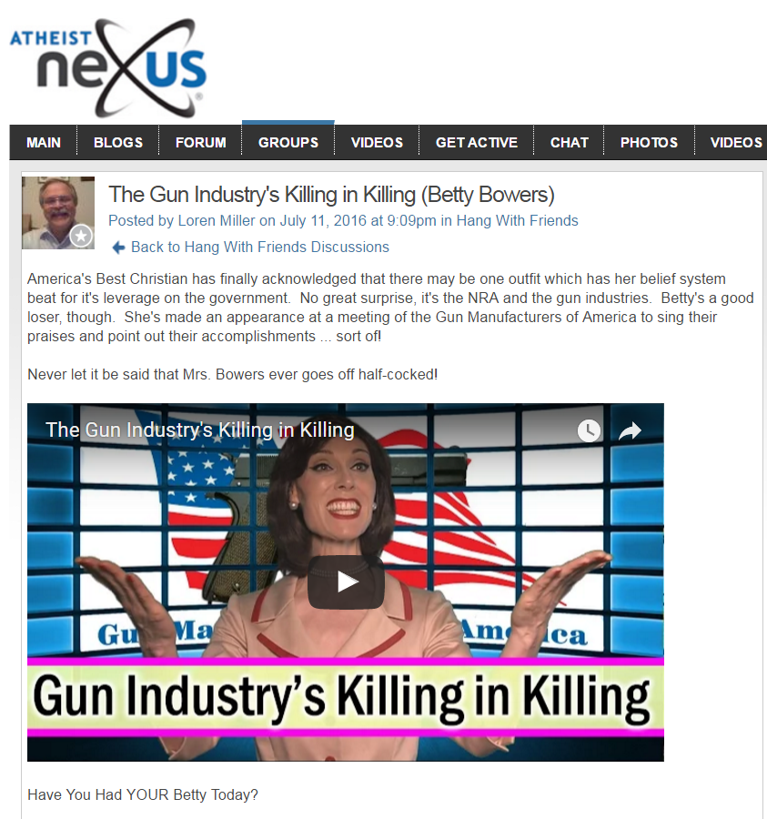 gun industry killing atheist nexus