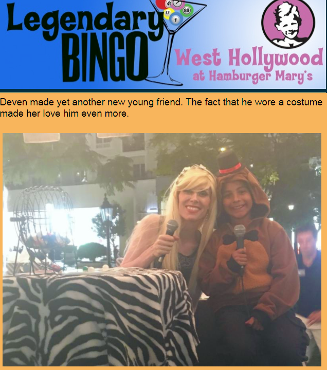 I found a baby bear with a hat so I had to have him call BINGO with me at Americana at Brand!