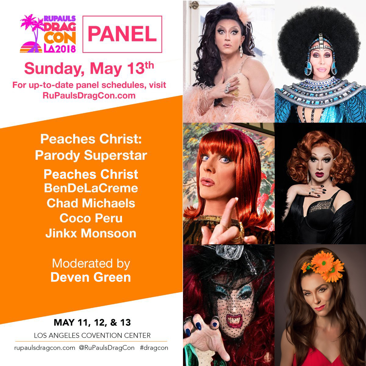 Deven Green rupauls dragcon 2018 peaches christ