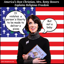 religious freedom pizza baby betty bowers
