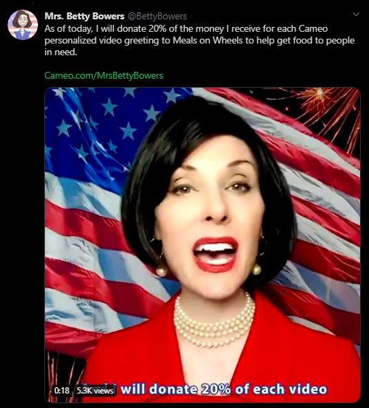 betty bowers cameo