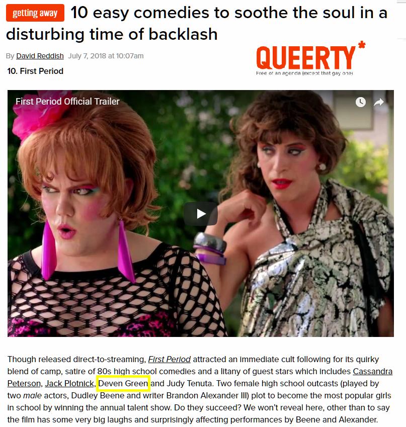Deven Green Queerty comedy