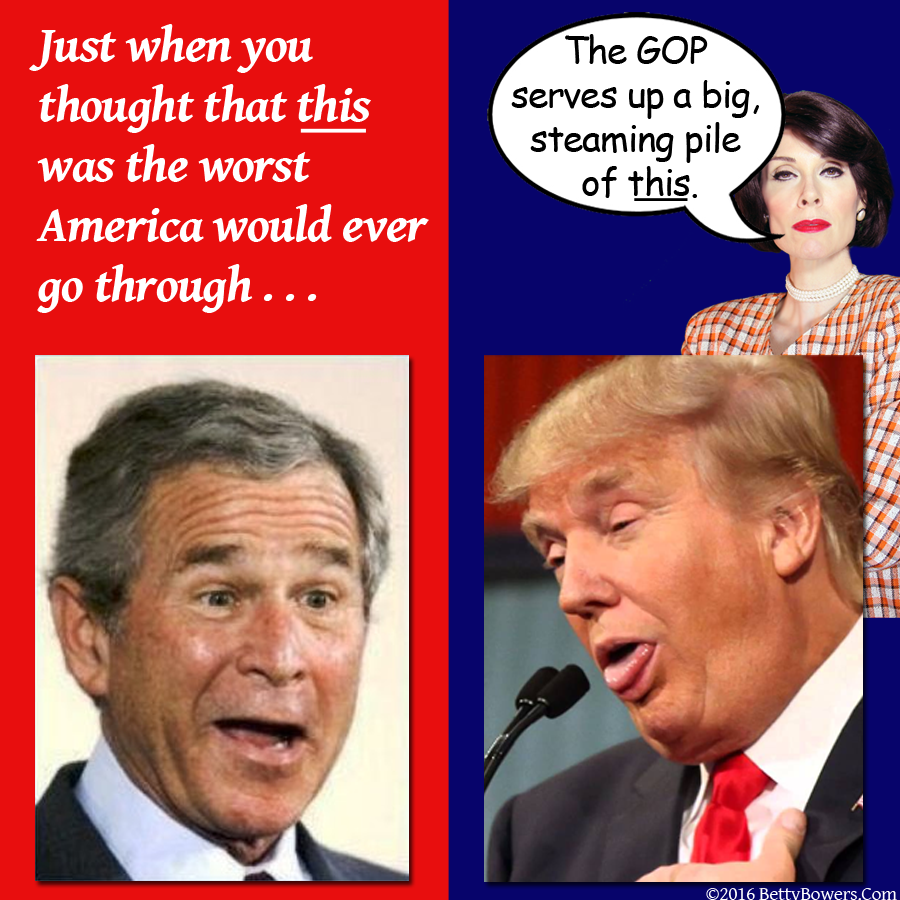 trump bush awful to worse