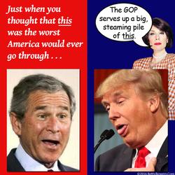 trump bush awful to worse