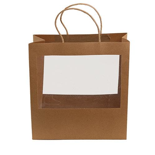 Kraft Large Window Paper Bag
