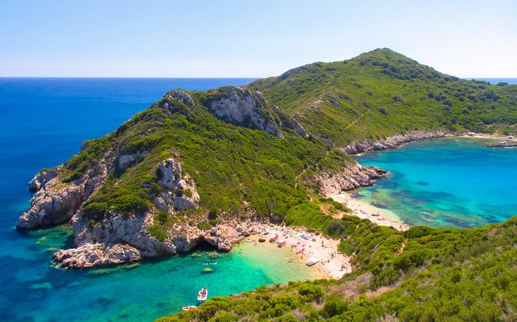 Beach in Corfu