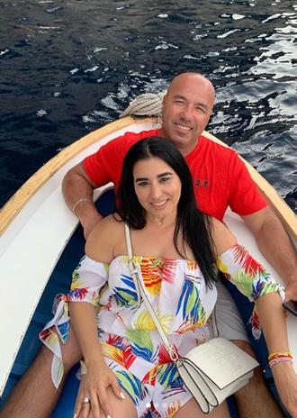 JC & Gladys enjoying a boat ride in Ital