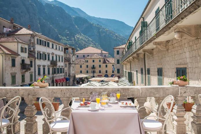 Restaurant view in Kotor