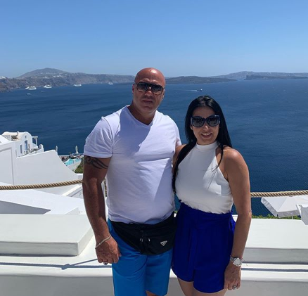 JC & Gladys in Santorini!