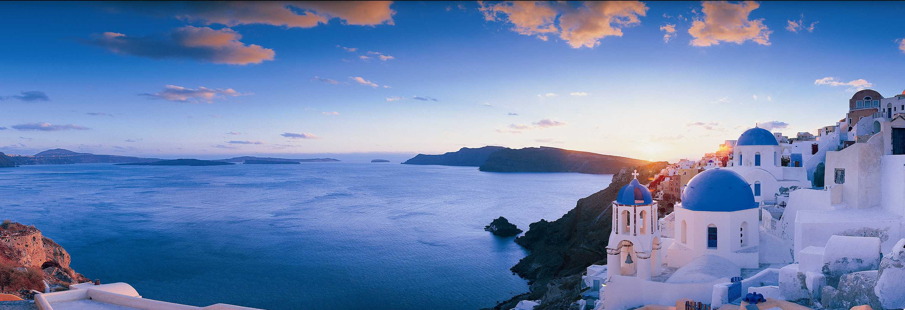 Sunset on the coast of Santorini