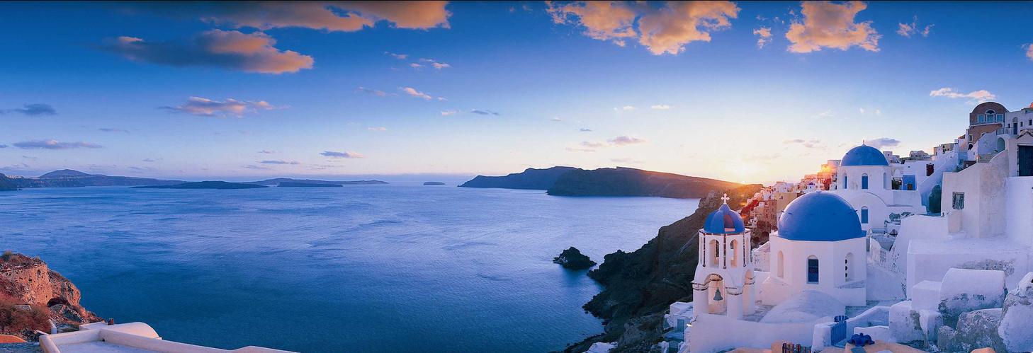 Sunset on the coast of Santorini