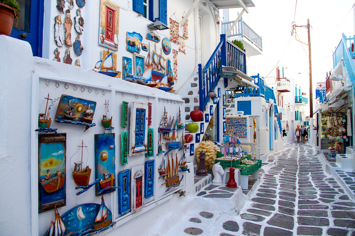 Shops in Mykonos