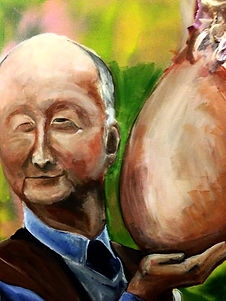 Old Man with large onion