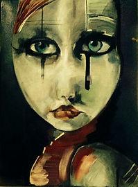 dark image of girl