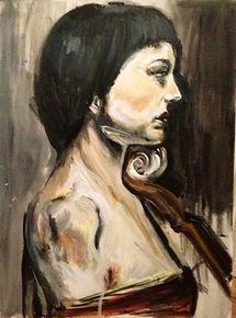 Dark Lady With Chello