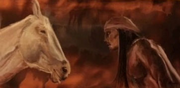 Indian and his horse