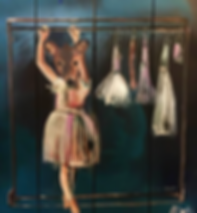 elk or deer girl in ballerina tutu
