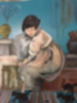 chinese girl on kitchen stool