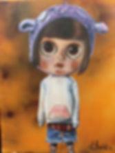 Little girl doll-like painting